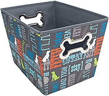 Paw Prints Fabric Pet Toy Bin (37409, WorldPlay Design)