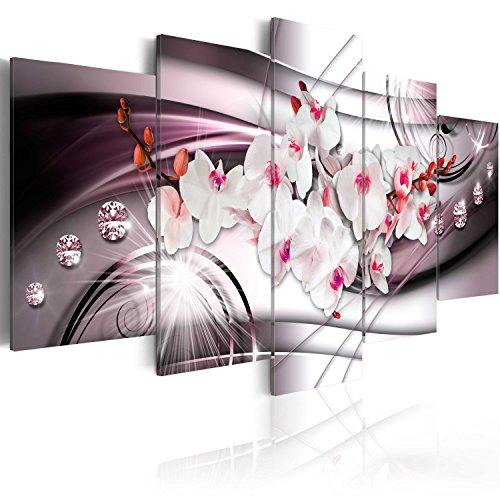 murando - Cuadro en Lienzo Orquidea Flores 100x50 cm Impresión de 5 Piezas Material Tejido no Tejido Impresión Artística Imagen Gráfica Decoracion de Pared Naturaleza Abstracto b-A-0238-b-o