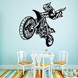 Rgzqrq Etiqueta engomada de la Pared de la Moda del Descuento de la Pared de la Motocicleta de DIY Etiqueta engomada del Vinilo del refrigerador 58x60cm