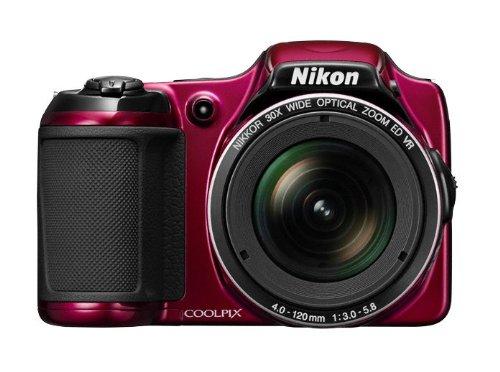 Nikon Coolpix L820 Digitalkamera (16 Megapixel, 30-fach opt. Zoom, 7,6 cm (2,7 Zoll) LCD-Monitor, Bildstabilisator) rot