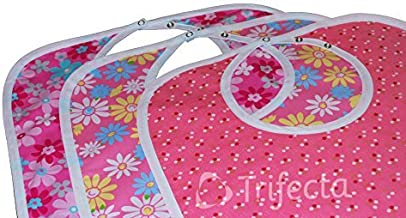 Trifecta Linens 3 Pack - Babero Adulto - Large Extra Long, Reutilizable Lavable a máquina, Ropa, Hora de la Comida Protector, Impermeable 18