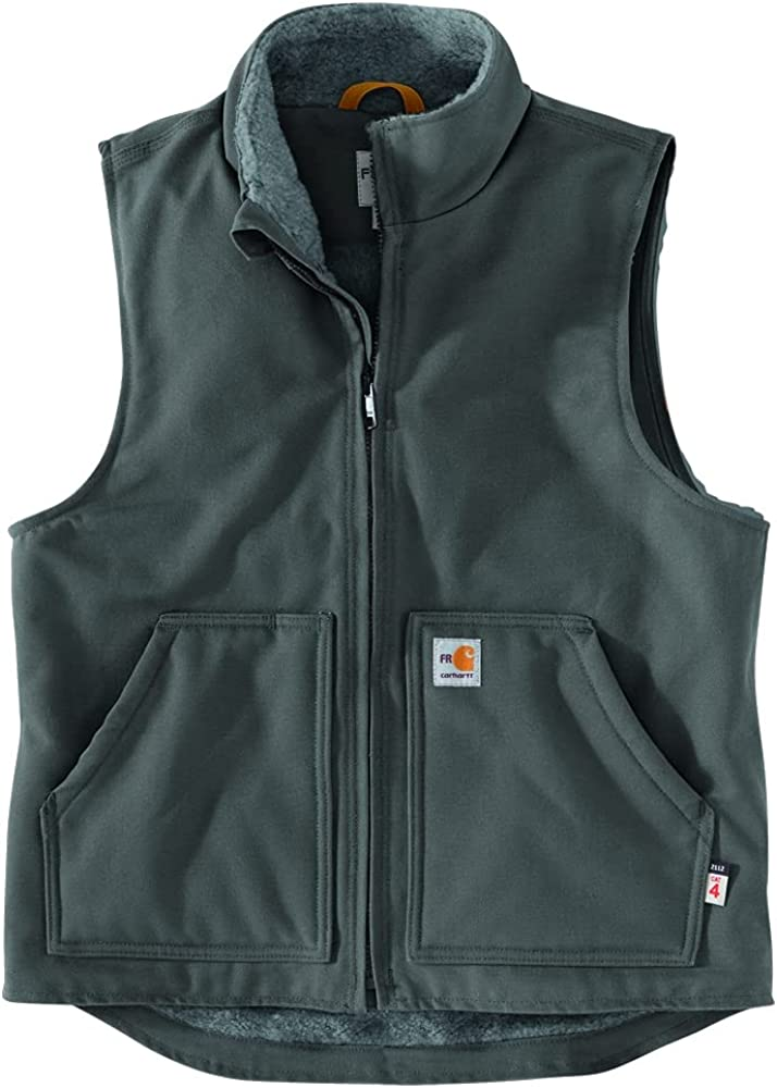 Carhartt Men's Flame-Resistant Duck Sherpa-Lined Vest