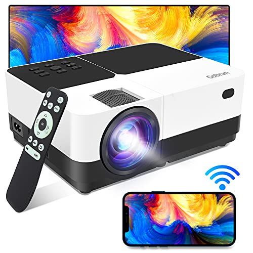 Vidéoprojecteur Supporte 1080P Full HD 6000 Lumens Rétroprojecteur Screen Mirroring,Mini Projecteur Video Audio Projecteur Home Cinéma Présentation PPT,Compatible avec HDMI/USB/SD/AV/VGA