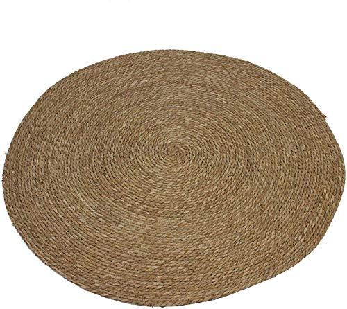 Dekoleidenschaft Teppich Natur aus Maisstroh geflochten, braun, rund, Ø 100 cm, Bodenmatte