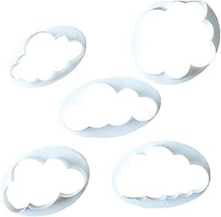 5 Set Biscotti Fondente,Biluer Nuvola Fondente Modello Stampi a Forma di Nuvola per la Stanza di Cottura La Caffetteria La...