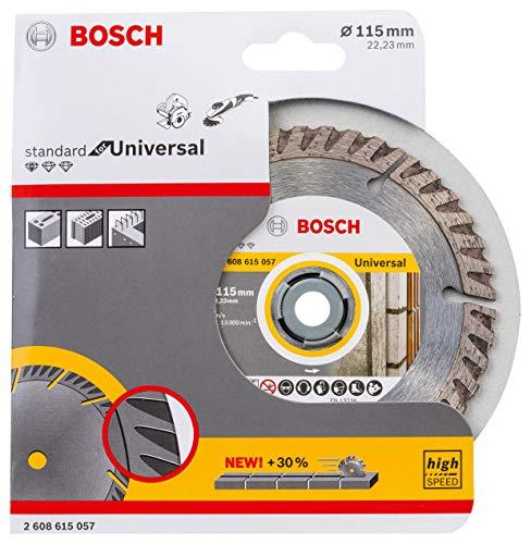 Bosch Professional Diamanttrennscheibe Standard für Universal (Beton und Mauerwerk, 115 x 22,23 mm, Zubehör Winkelschleifer)