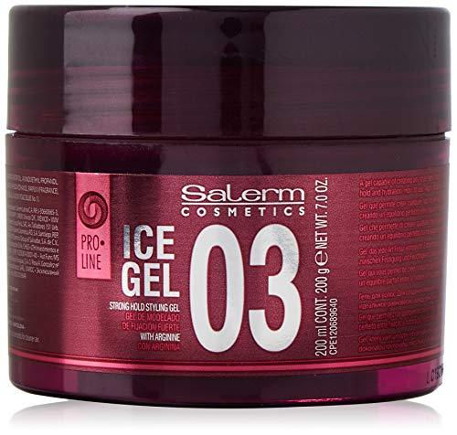 Salerm Cosmetics Ice 03 Strong Hold Styling Gel Fijador - 200 ml, Morado