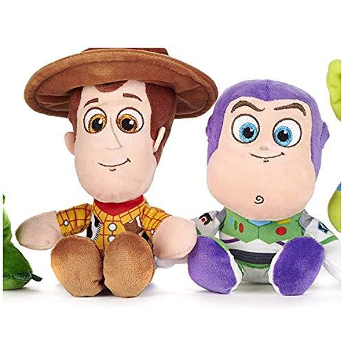 Price Toys Toy Story 4 Soft Toy Collection Disney Pixar - Mini Granos de Woody, Buzz Lightyear, Bo Peep, Conejito, Ducky Extranjero y Rex (Woody/Buzz)