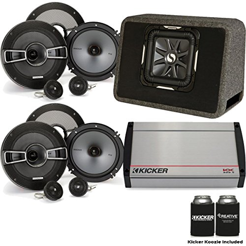 "Kicker 40KX8005 800 Watt 5-Channel amp, Two Pairs of KS 6.5"" Component Speakers, a 10"" Kicker L7 in Ported Enclosure"