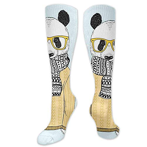 Zome Lag Running-Socken,Lustige Socken,Athletic Crew Socken,Freizeitsocken,Panda Dress Up In Jacquard Pullover Unisex Tennissocken,Herren Kleid Holiday Socks 50Cm