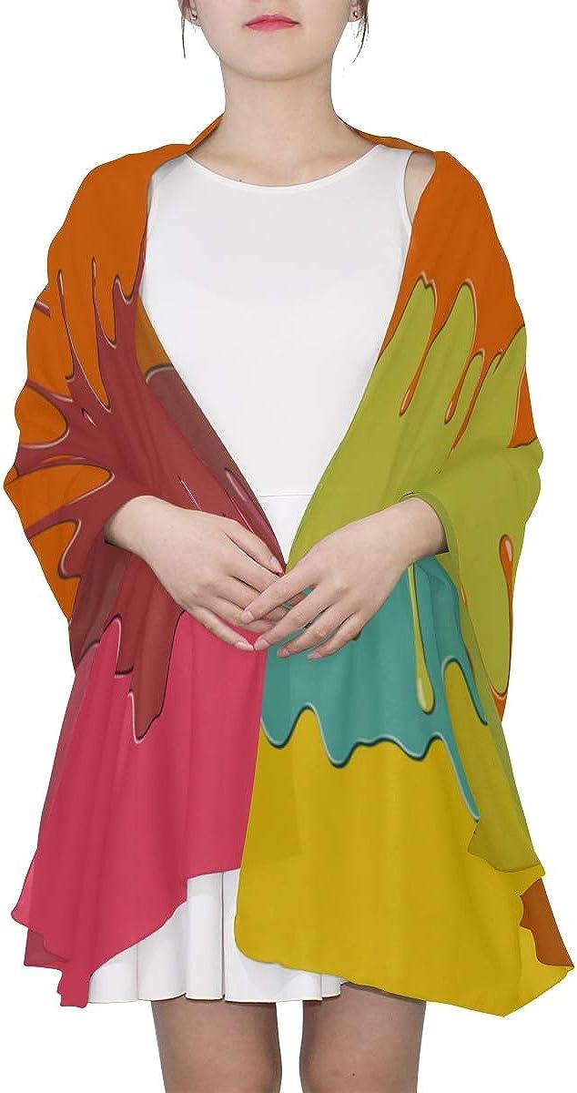 Shawl Wrap For Kids Art Colorful Paint Block Spray Graffiti Womens Scarf Summer Scarfs Men Lightweight Print Scarves Fashion Lightweight Scarf Mens Scarfs Fashion Thin