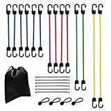 Amazon Basics - Cuerdas elásticas de alta calidad, longitudes variadas, pack de 24, multicolor
