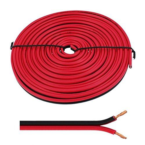 Cavi diffusori 5m - 2x2,5mm² - 100% CCA Rame ; Cavo audio - rosso/nero