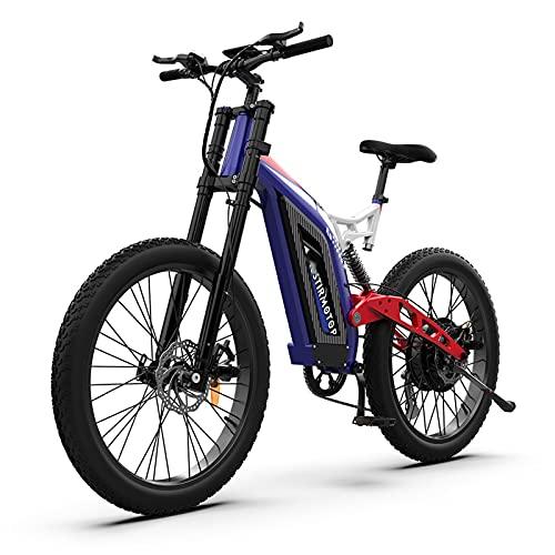 WZW S17 1500W Montagna Bicicletta Elettrica 26 Pollici 3.0 Grasso Pneumatico Ebike Kit 48V 14,5Ah Spiaggia incrociatore Città Elettronico Bicicletta per Adulti Uomo da Donna