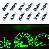 WLJH 10 Pièces Super Brillant Vert T5 37 74286 2721 W3W Mini Ampoule à Led - Ampoules TrèS Lumineuses, IdéAles Pour Le Tableau De Bord IntéRieur