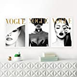 ZDFDC Leinwanddruck Gemälde Vogue Cover White