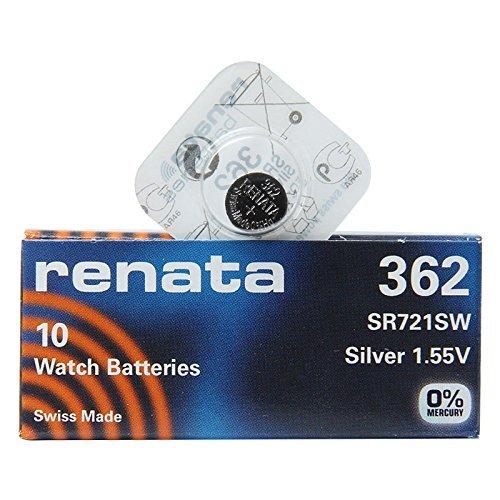 Renata 362 SR721SW Lot de 1 x (10) Montre 1,55 V Argent Batter