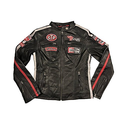 Warson Motors Womens Daytona Black Leather Jacket S