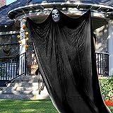Halloween Hanging Skull Decoration, 13.94ft Halloween Hanging Ghost Prop Halloween Hanging Skeleton Flying Ghost Halloween Hanging Decorations for Yard Outdoor Indoor Party Bar