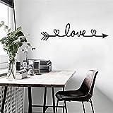 Adesivi Murali, Wall Stickers Carta da Pareti'LOVE' freccia Decorazione Murali da Parete   Adesivi da Parete Removibili Camera da Letto Soggiorno Bambini