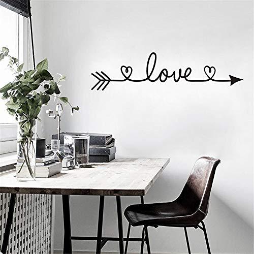 Adesivi Murali, Wall Stickers Carta da Pareti'LOVE' freccia Decorazione Murali da Parete | Adesivi da Parete Removibili Camera da Letto Soggiorno Bambini