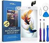 FLYLINKTECH Pantalla Táctil LCD Reemplazo para iPhone 6s Blanco 4.7' Contiene Herramientas + película de Vidrio Templado - Blanco