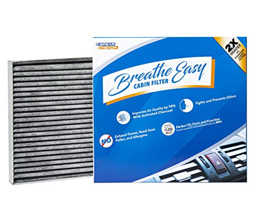 Spearhead Premium Breathe Easy Cabin Filter, Up to 25% Longer Life w/Activated Carbon (BE-058)