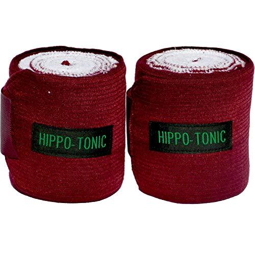 Hippo-Tonic 540010 Elastic Vendas de Ejercicio, Unisex Adulto, Granate