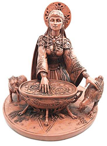 Gifts & Decor Celtic Goddess of Rebirth Inspiration Cerridwen Enchantress Figurine Magical Potion Cauldron Statue