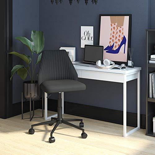 Novogratz Brittany - Silla de oficina con ruedas, color gris