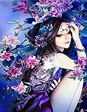 Yugipotu Foto por números Chica de dibujos animados japoneses Dibujo en lienzo Pintado a mano Kits para colorear Regalo de arte DIY pintura al óleo Decoración del hogar 30X40CM