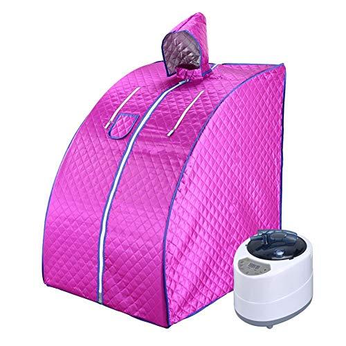 ALY Ångbastu hemmabruk bärbart spa tält, spa slappna av fördelaktig hud förlora kalorier vikt håll huden frisk, med stol, ånggenerator etc, E