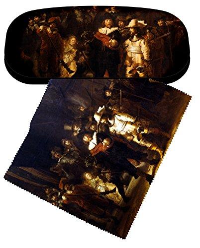 Artis Vivendi bril hoesje en lens schoonmaken doek Rembrandt nacht horloge set