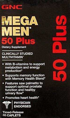 GNC Mega MEN 50 PLUS Multivitamins 60 Caplets by GNC