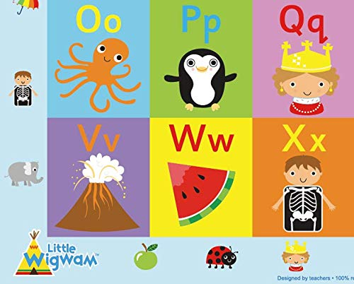 "Little Wigwam Alphabet ""No Tear Guarantee"" Educational Poster (60 x 42cm)"