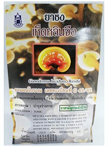 Bolsitas de te de hongos Reishi (Ganoderma lucidum) - Bolsitas de te de hierbas tradicionales tailandesas para la salud