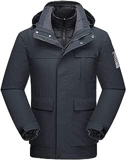 Men's Mountain Waterproof Ski Jacket Windproof Rain Jacket Liner Detachable Sport Coat
