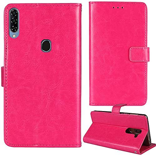 Dingshengk Rosa Funda Caso Carcasa Proteccion Cuero Flip Case Cover Soporte para Yezz Art 1 Pro 6.53'