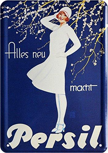 Alles neu Macht Persil Reklame Blechschild Postkarte Blechkarte PKM 183