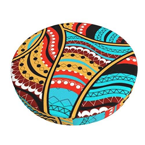 Funda de Asiento para Silla Patrón Tribal étnico Material Ploiéster Duradero Fundas Decorativas para sillas de Comedor 13in