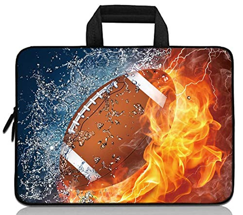 """11"""" 11.6"""" 12"""" 12.1"""" 12.5"""" inch Laptop Carrying Bag Chromebook Case Notebook Ultrabook Bag Tablet Cover Neoprene Fit Samsung Google Acer HP DELL Lenovo Asus (11 11.6 12.1 12.2 inch, Rugby Fire)"""