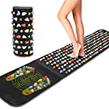 Foot Massage Stone Mat,Reflexology Mat Walk Stone Foot Leg Pain Relieve Relief Walk Massager Mat, Acupoint Mat for Acupressure Relaxes The Nerve Ache Ease Tiredness of The Muscle(68.9in*13.8in)