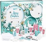Brubaker Cosmetics Beauty Adventskalender 2020 – 24 x Körperpflege Produkte & Spa Accessoires - der XXL Wellness Weihnachtskalender für Frauen und Mädchen - Mint Blau