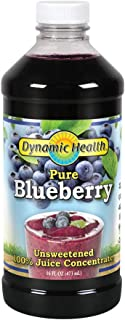 Dynamic Health 473ml 100 Percent Pure Blueberry Juice Concentrate | 16 Fluid Ounce