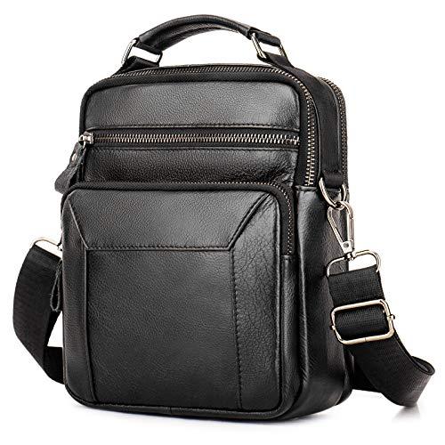 BAIGIO Leather Shoulder Messenger Bag for Men Handbag Crossbody Satchel Side Bag for Work...