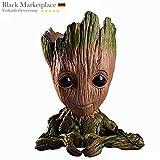 Baby Groot Blumentopf - Übertopf Groß Aquarium Deko Figur Holz Aschenbecher Stiftehalter...
