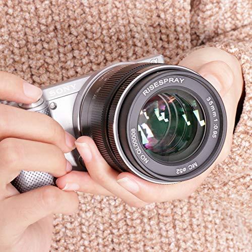 Risesbury 35 mm f/0,95 große Blende Mark III Standardobjektiv für spiegellose Kamera, Micro 4/3 Halterung, 35mm f/0.95