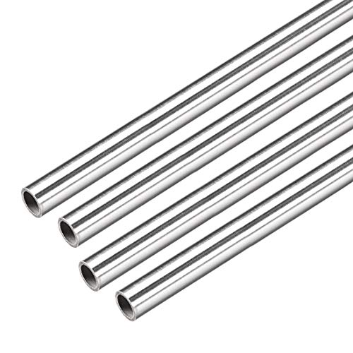 uxcell 4Pcs 304 Stainless Steel Capillary Tube Tubing 6.4mm ID 8mm OD 300mm Length 0.8mm Wall