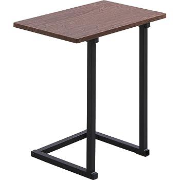 アイリスオーヤマ テーブル サイドテーブル コの字型デザイン 木目調 ブラウンオーク/ブラック 幅約45×奥行約29×高さ約52.2cm SDT-45