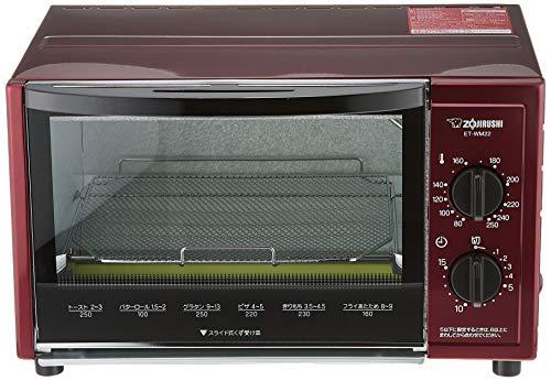象印オーブントースターこんがり倶楽部80~250℃温度調整機能付きメタリックレッドET-WM22-RM